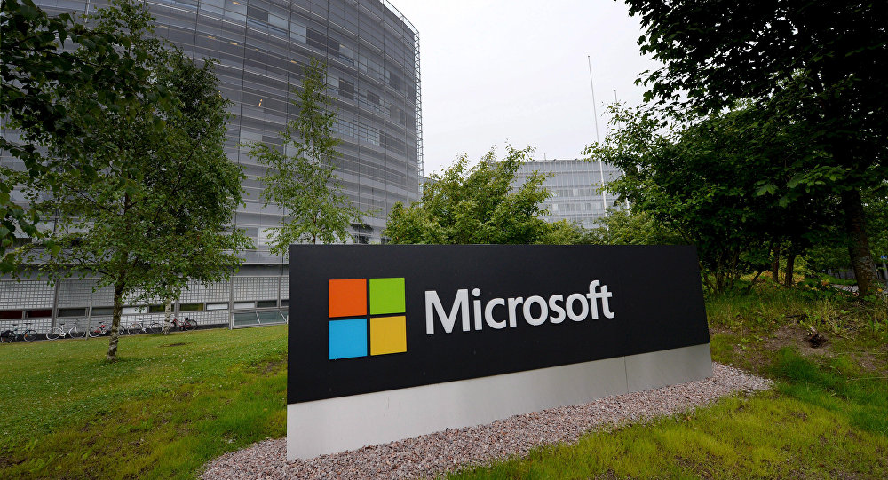 Outside view of Microsoft's Finnish headquarters in Espoo, Finland (File)