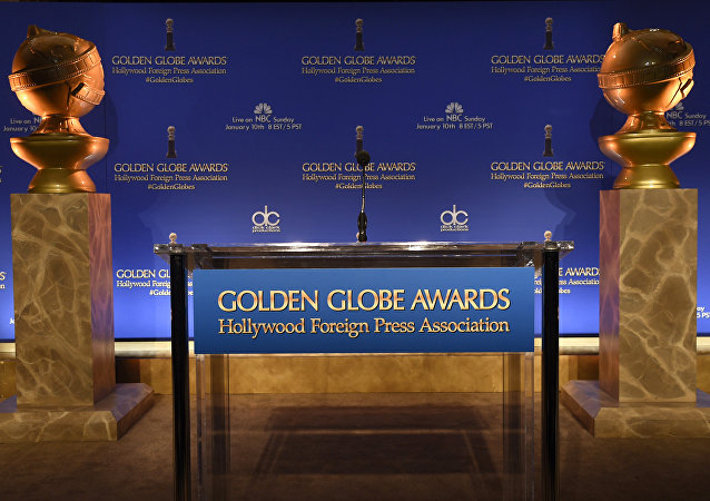 Golden Globe statues are seen at the 73rd annual Golden Globe Awards nominations at the Beverly Hilton hotel on Thursday, Dec. 10, 2015, in Beverly Hills, Calif