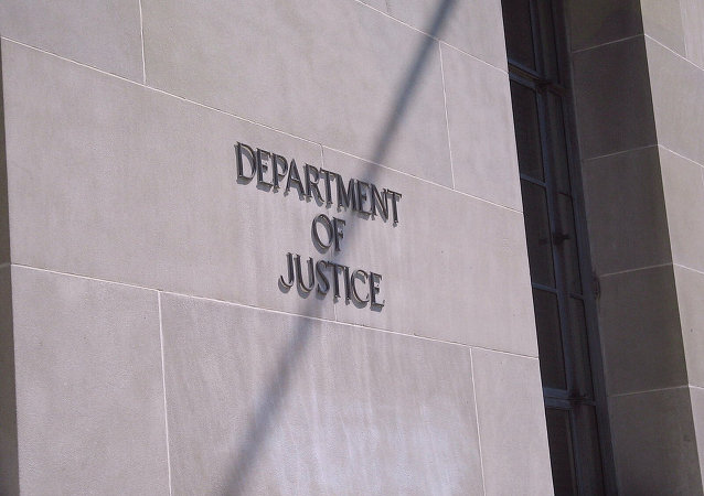 The Department of Justice building in Washington, DC.