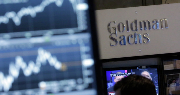 The Goldman Sachs Booth at the New York Stock Exchange